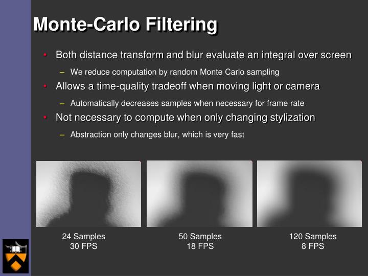 Monte-Carlo Filtering