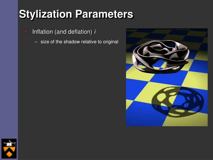 Stylization Parameters