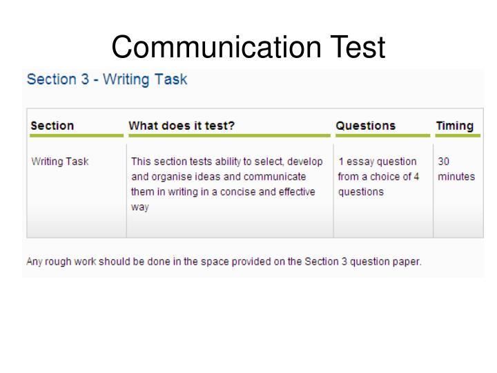 Communication Test
