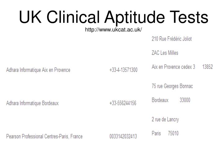 UK Clinical Aptitude Tests