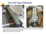 the lhc type collimator