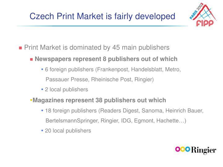 Czech Print Market is fairly developed