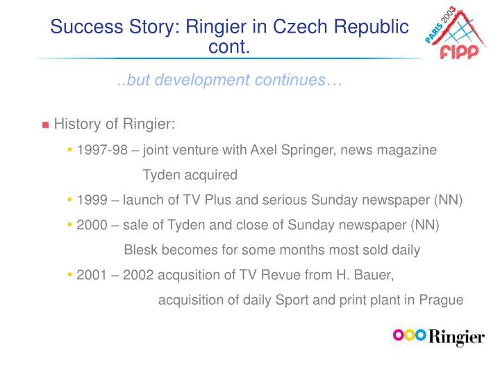 Success Story: Ringier in Czech Republic cont.