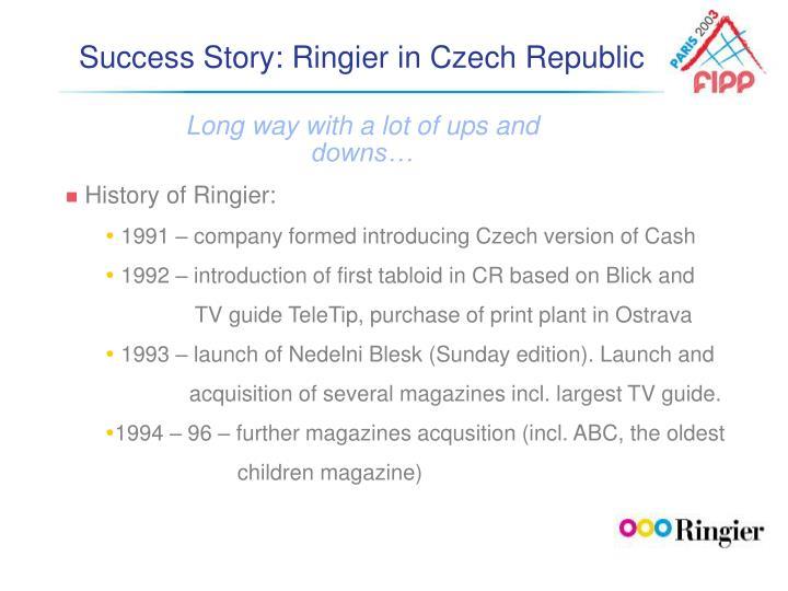 Success Story: Ringier in Czech Republic
