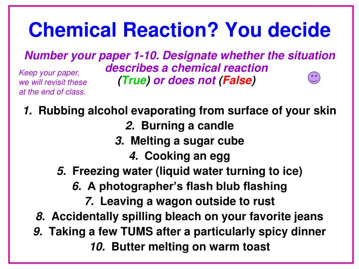 Chemical Reaction? You decide