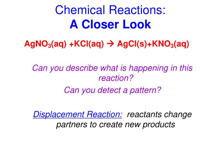 Chemical Reactions:
