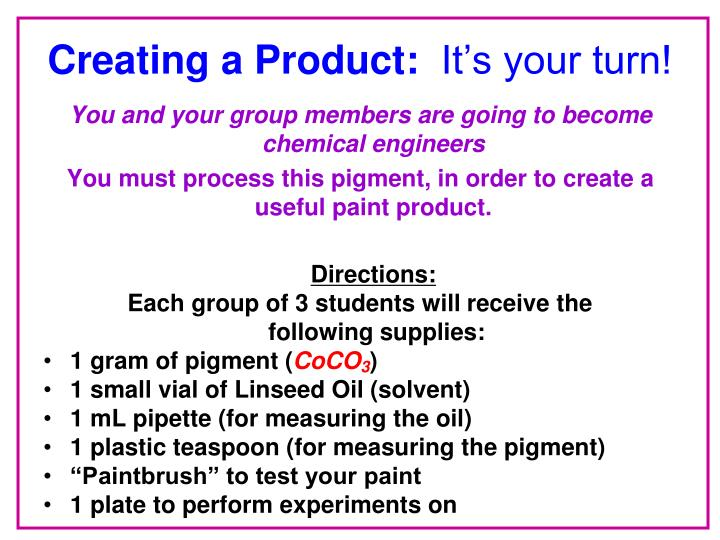 Creating a Product: