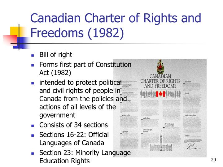 canadian charter rights and freedoms 1 1 allard school of law university of british columbia (ubc) canadian constitutional law: charter (the canadian charter of rights and freedoms) law 201003 t2 fridays 1:30 – 3:30 pm (location: room 105, allard hall.