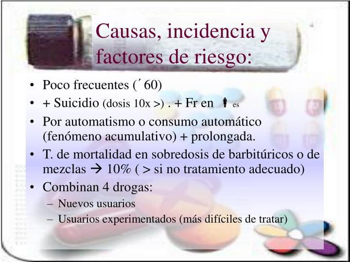 Causas incidencia y factores de riesgo