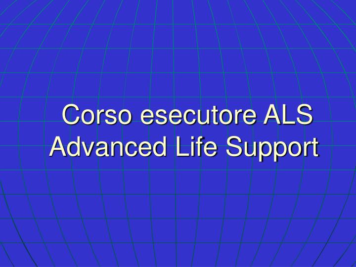 corso esecutore als advanced life support