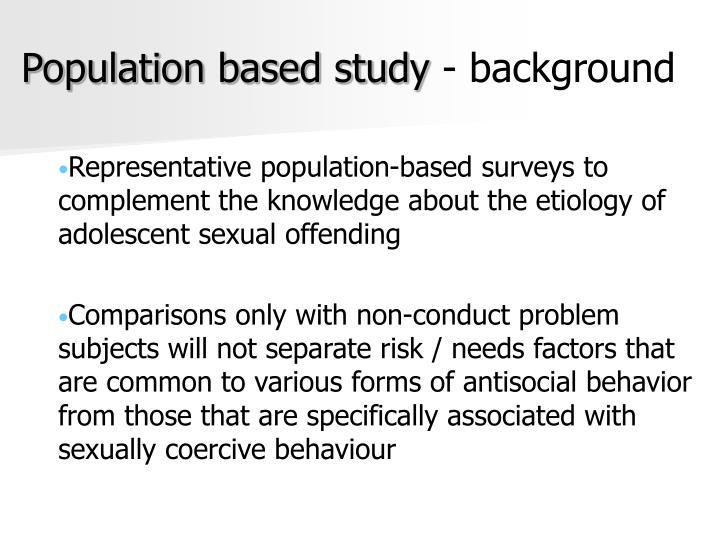 Population based study