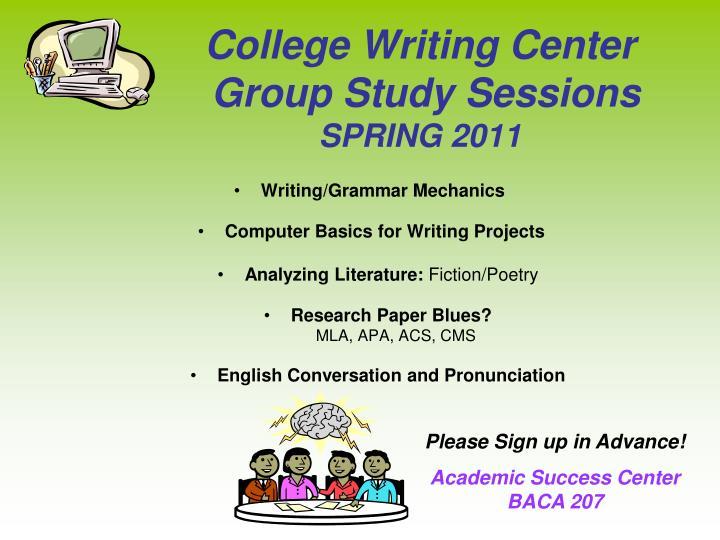 Writing/Grammar Mechanics