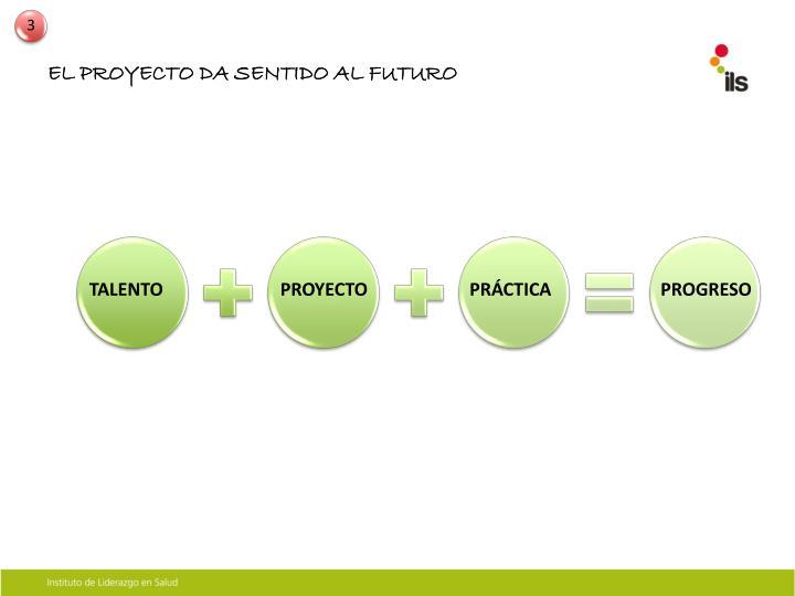 EL PROYECTO DA SENTIDO AL FUTURO