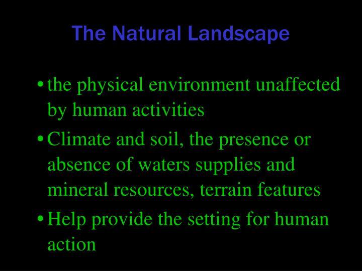 The Natural Landscape