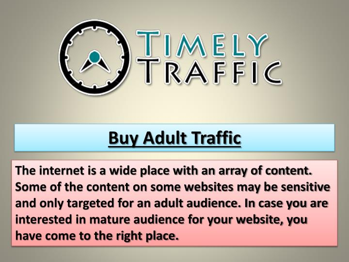Buy Adult Traffic
