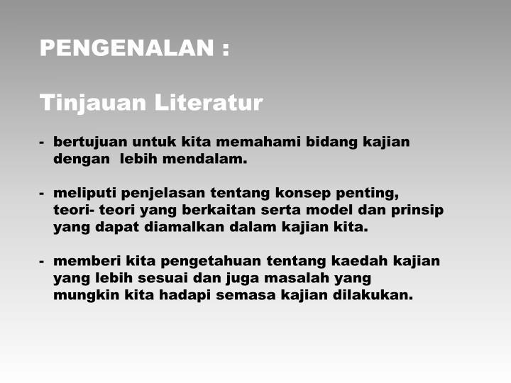 PENGENALAN :