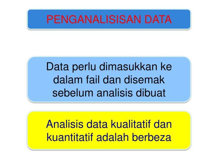 PENGANALISISAN DATA