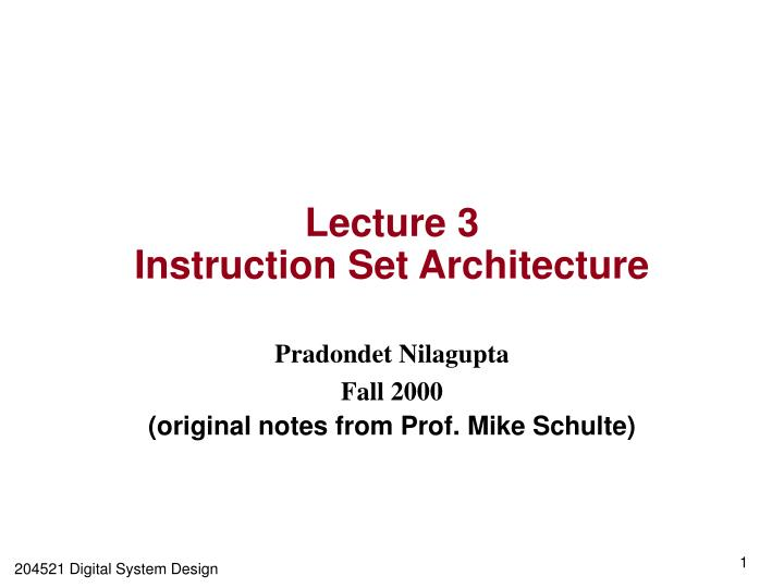 Ppt Lecture 3 Instruction Set Architecture Powerpoint Presentation Free Download Id 3794014