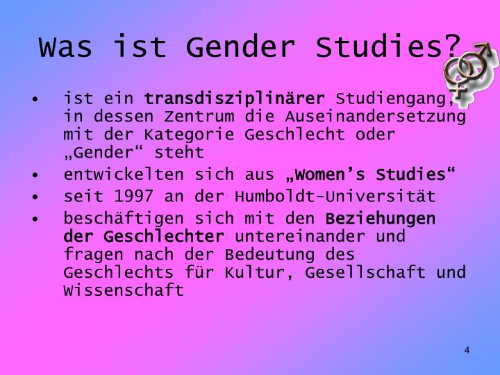 Was ist Gender Studies?