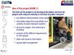 idea of the project baim 1