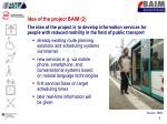 idea of the project baim 2