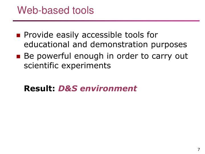 Web-based tools