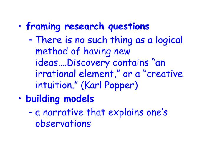 framing research questions