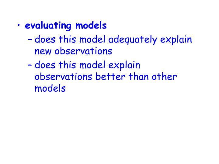 evaluating models