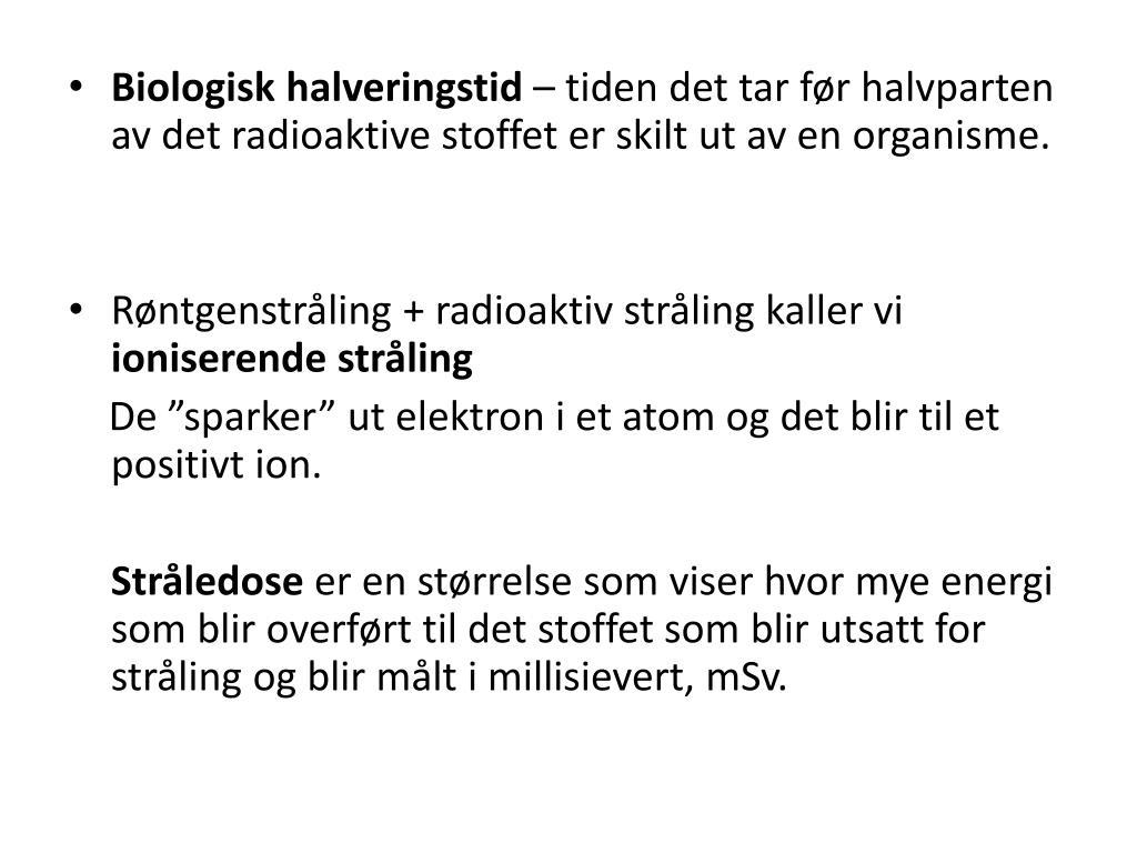 Halveringstid i radioaktive dating