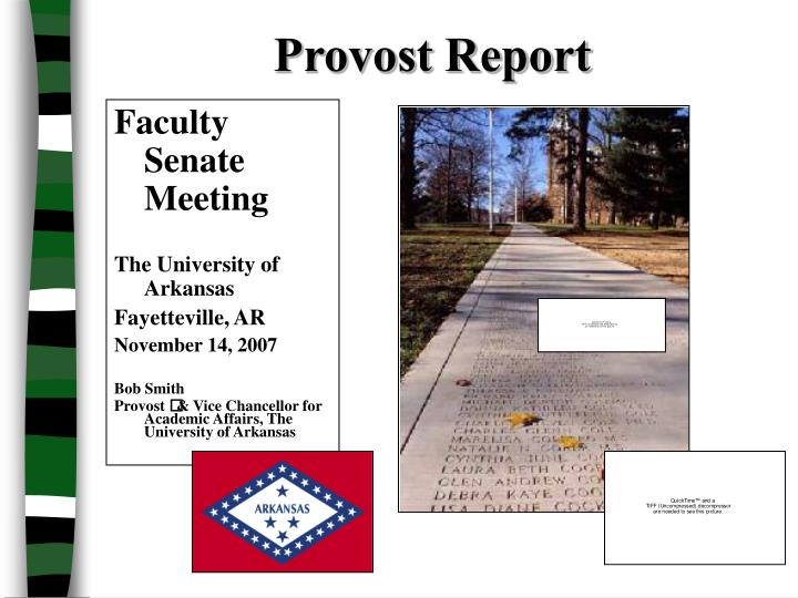 provost report n.