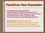 pemikiran new keynesian