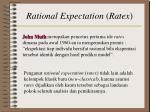 rational expectation ratex