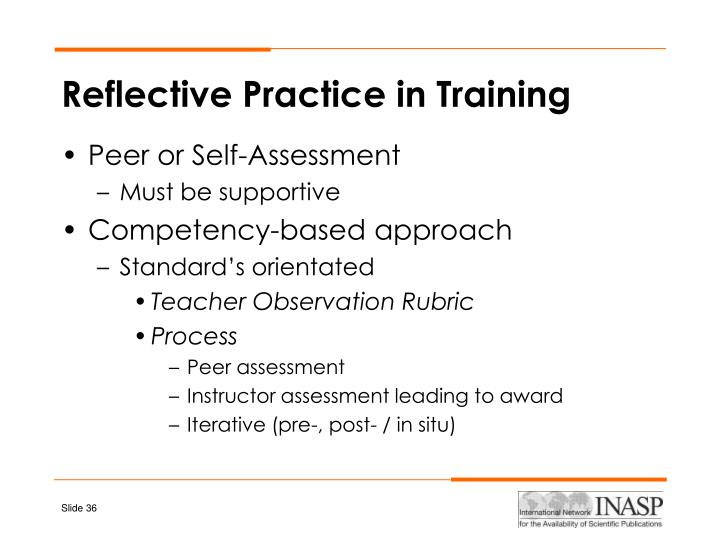 Reflective Practice in Training