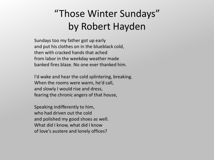 Those winter sundays by robert hayden1