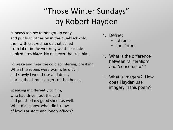 Those winter sundays by robert hayden2