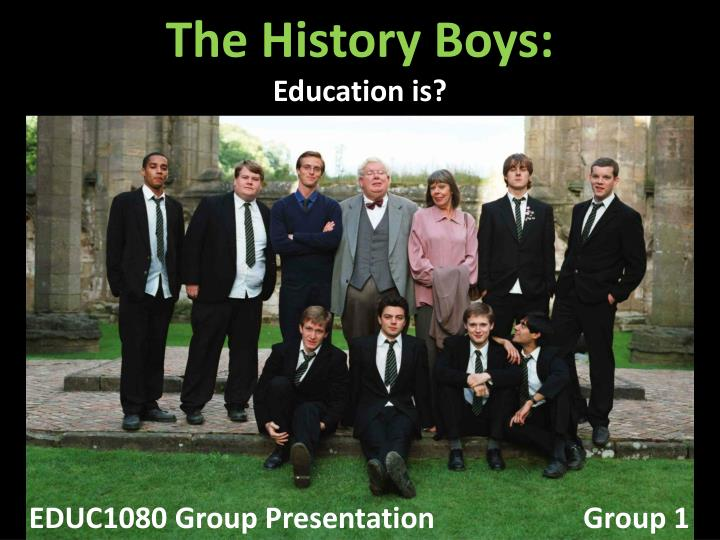 the history boys education is n.