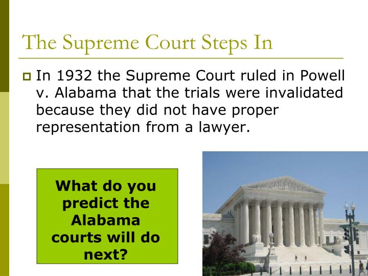 The Supreme Court Steps In
