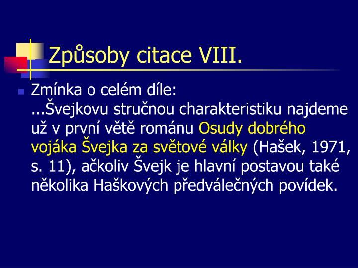 Způsoby citace VIII.