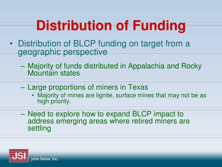 Distribution of Funding