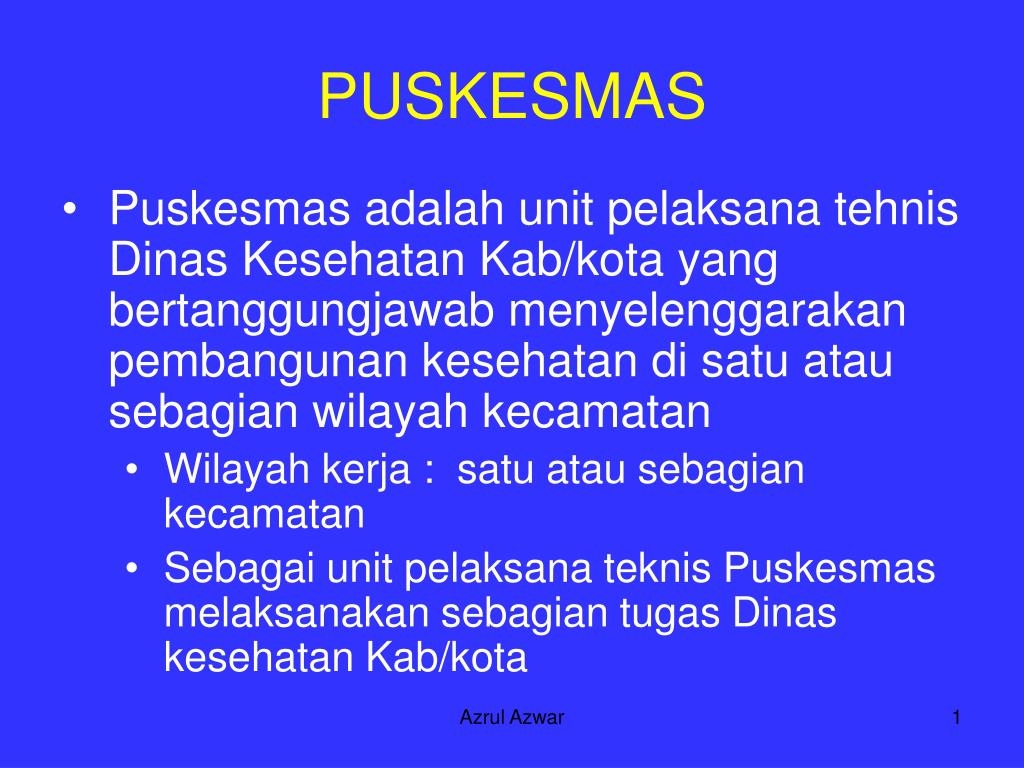 Ppt Puskesmas Powerpoint Presentation Free Download Id 3795421