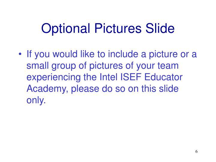 Optional Pictures Slide