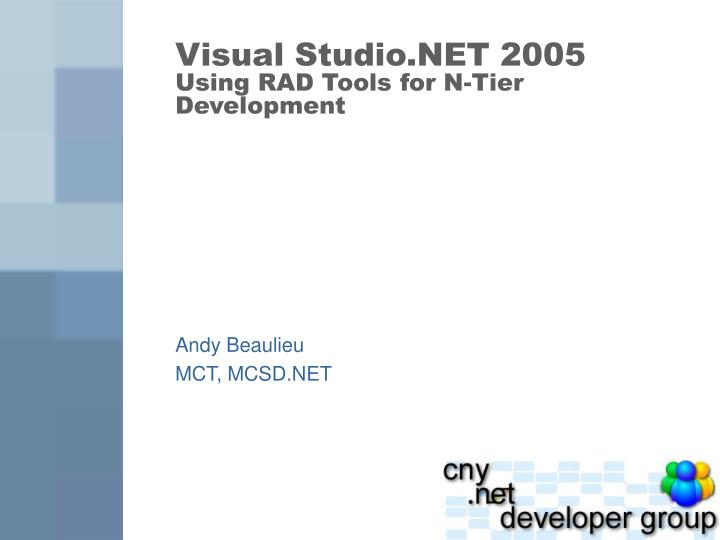 Ppt the visual studio. Net and vb. Net integrated development.