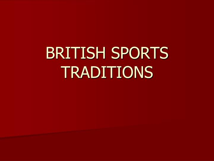 british sports traditions n.