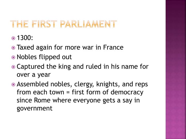 The First Parliament