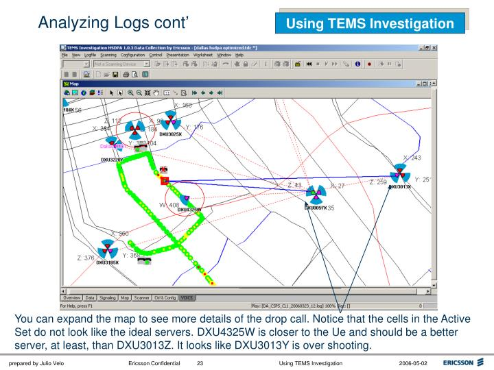 Analyzing Logs cont'