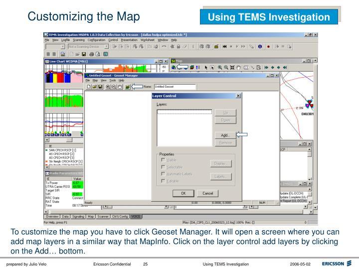 Customizing the Map