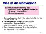 was ist die motivation