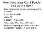 how many ways can 6 people line up in a row