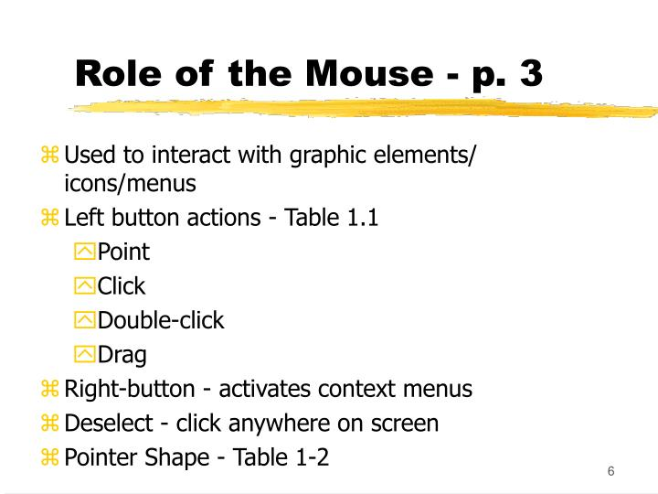 Role of the Mouse - p. 3