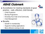 abae clubmark